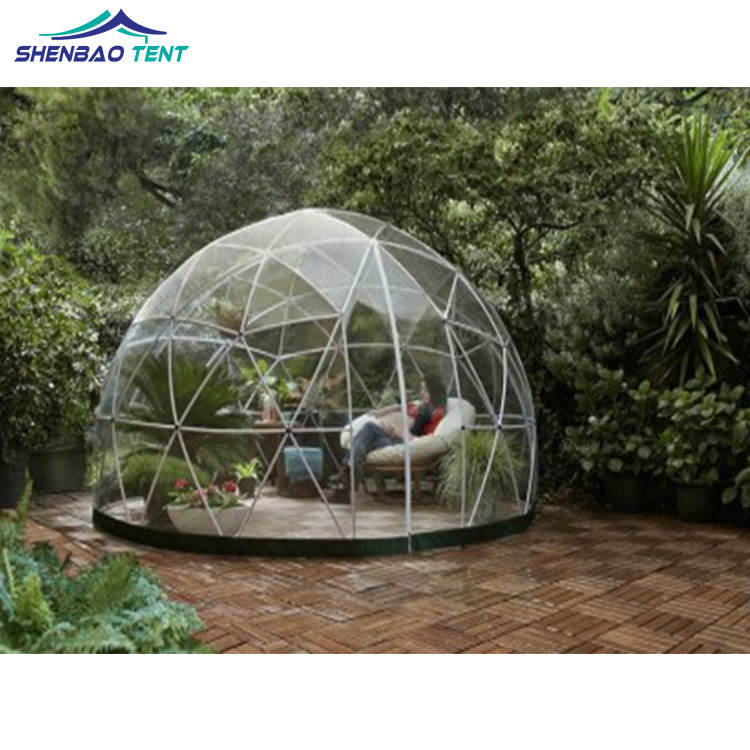 100% Clear PVC Transparent Igloo House Geodesic Dome Tent For Outdoor Events