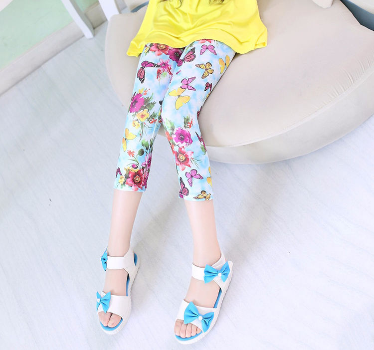 2020 JIEJIN Custom Printed Pattern Ages 4 -10 Kids Yoga Wear Athletic Clothes Fitness Leggings