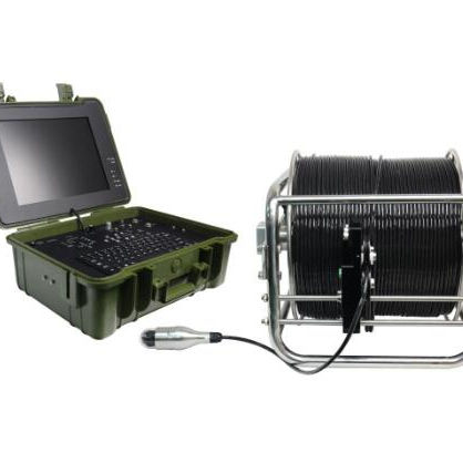 Deep Well Inspection Videoendoscope With Pan Tilt Camera, 58mm Camera Lens, 150M Testing Cable, 15 Inches Monitor