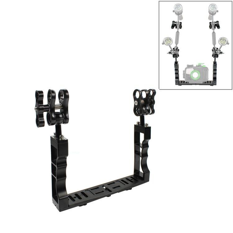 KANEED Dual Handle Aluminium Tray Stabilizer for Underwater Camera Housings