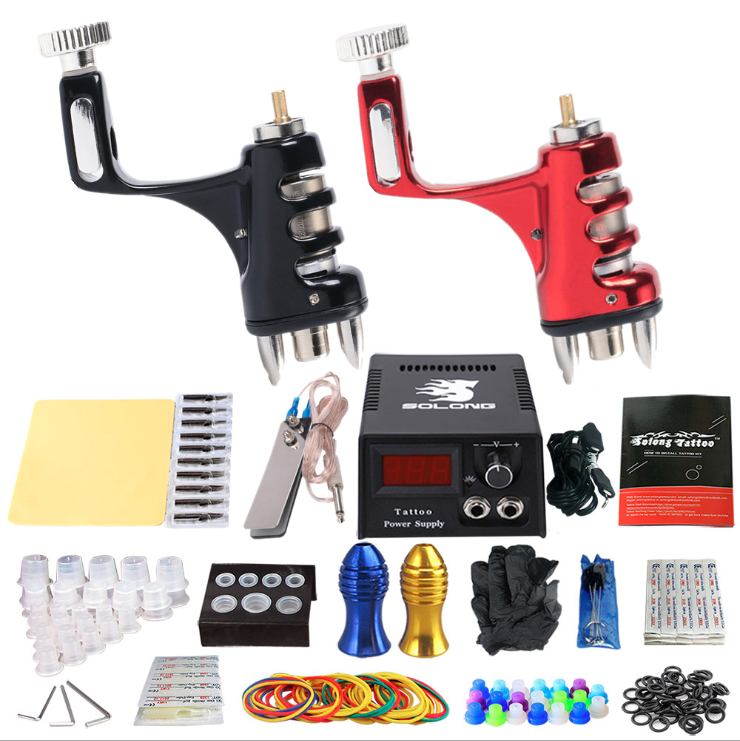 Sun motor professional tattoo machine set full set of cutting and fog double machine tattoo equipment