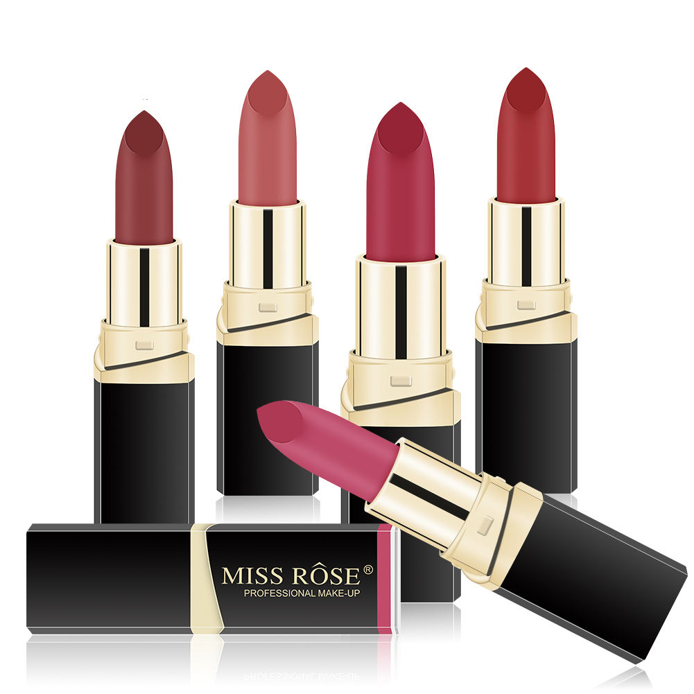 42 Colors Miss Rose permanent red nude lipstick matte lip stick lipstic makeup mackup cosmetics wholesale vendor