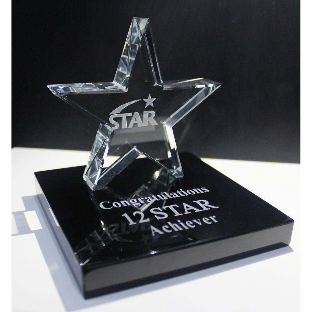 cristal star glass star crystal awards and trophies