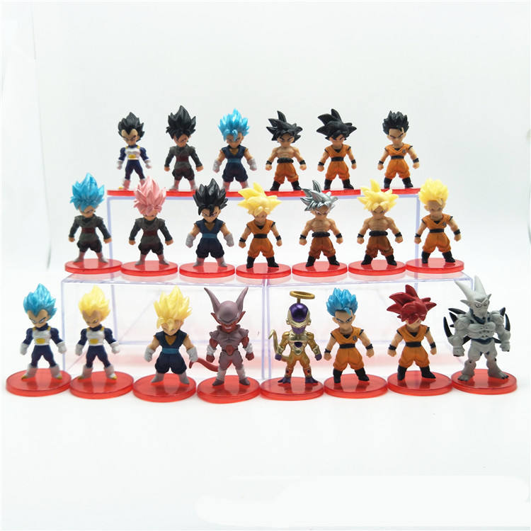 21pcs/set super saiyan Ultra Instinct Silver hair goku gohan vegata action figure PVC model toys