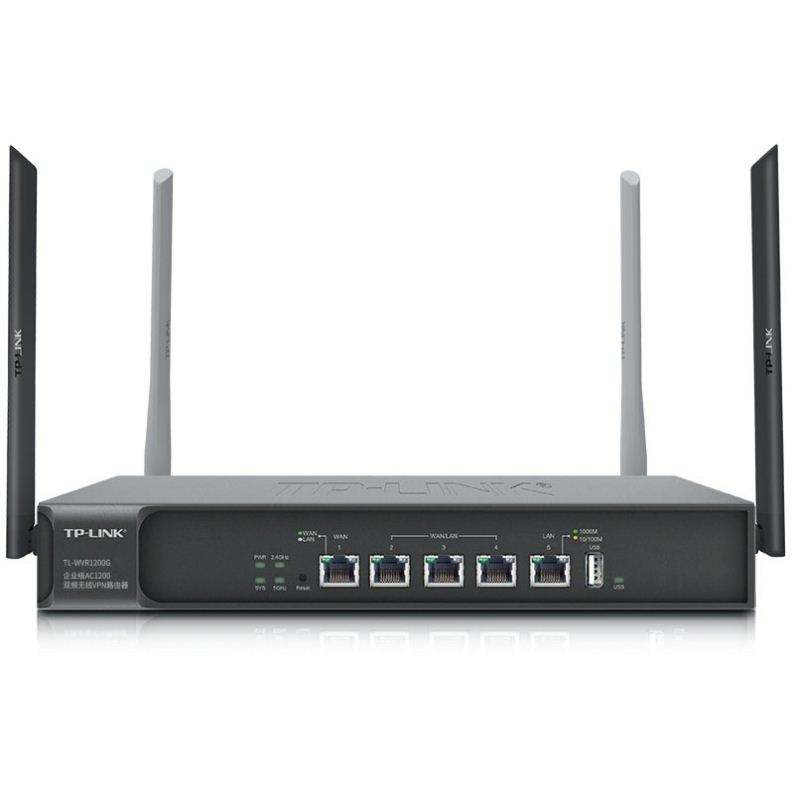 Router Nirkabel Dual-Band 1200M 5G, Router AC, Port Gigabit, Wifi Melalui Dinding