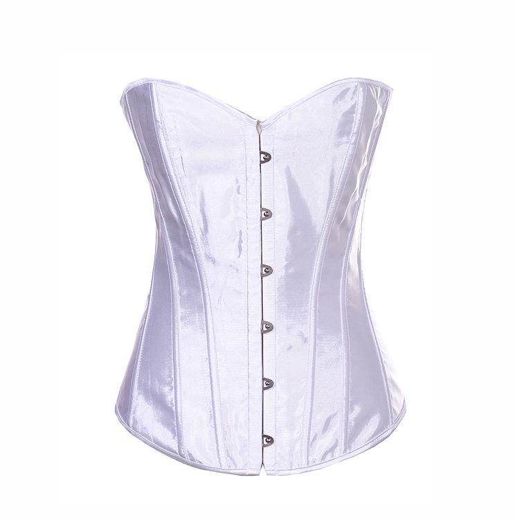 Оптовая продажа с фабрики Цена белые бюстье сексуальные талии формируя полный корсет корсеты