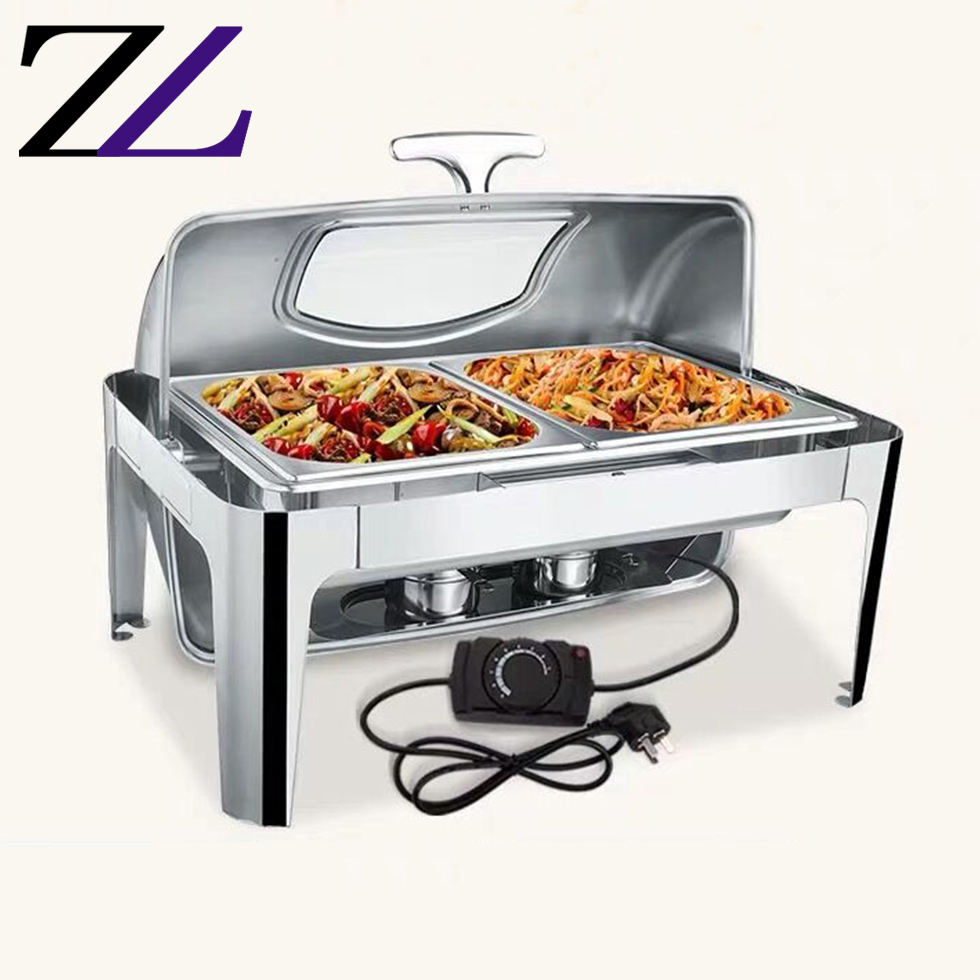 Guangzhou buy kitchen accessories electrical heaitng board chafing dishes gn pan 1/2 serving buffet food warmer meal stove