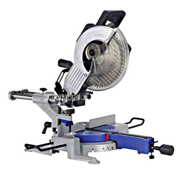 10 Inch Multi-function Rod Saw Desktop Precision Aluminum Alloy Gear Drive 45 Degree Oblique Cutting Machine 220V 1800W 255MM