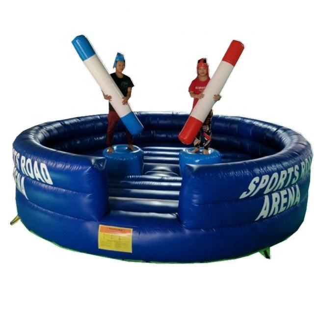 Inflatable กีฬาแผนที่ Arena/Inflatable Gladiator เกม Sticks/Gladiator Jousting Inflatables สำหรับขาย