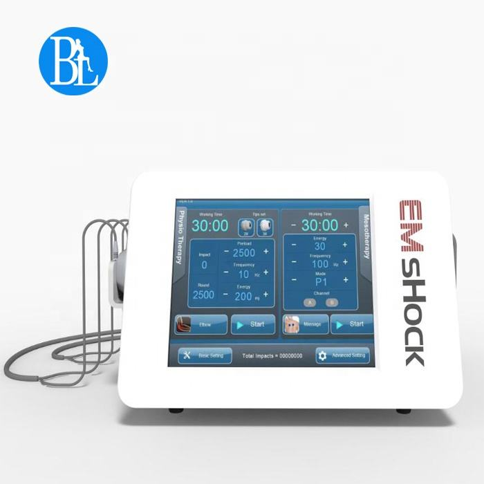 New inventions in China physiotherapy equipment Shockwave EMS machine