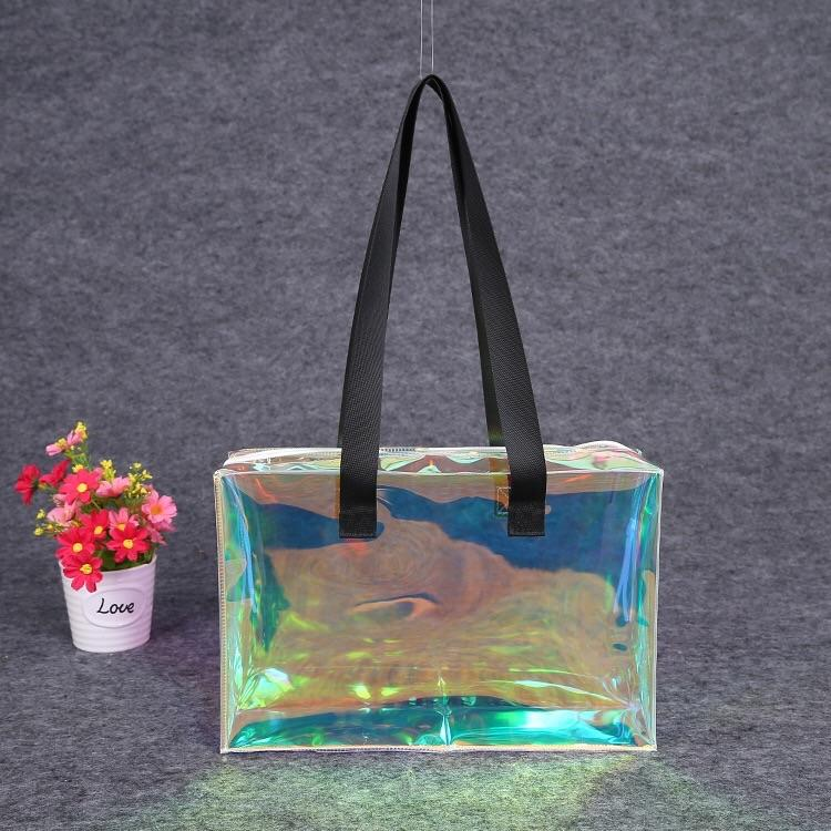 pvc zipper shopping waterproof bag