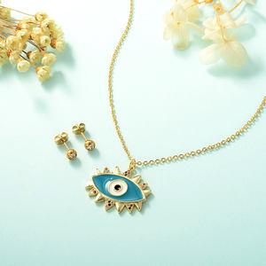 Modalen Women Necklace Set Gold Pald Stainless Steel Bear Jewelry