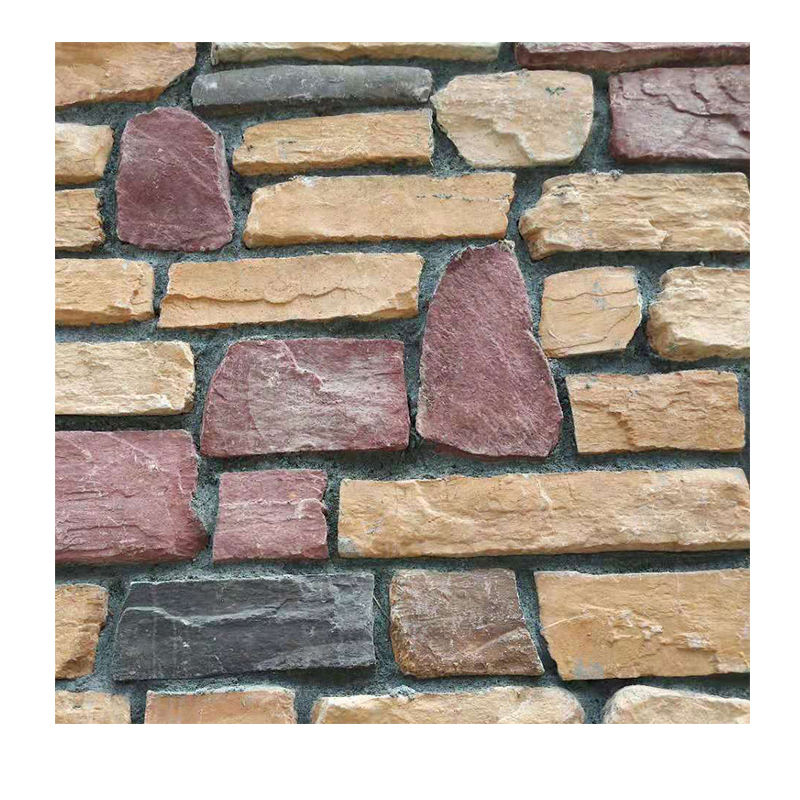 culture rock wall cladding panel slate artificial stone veneer
