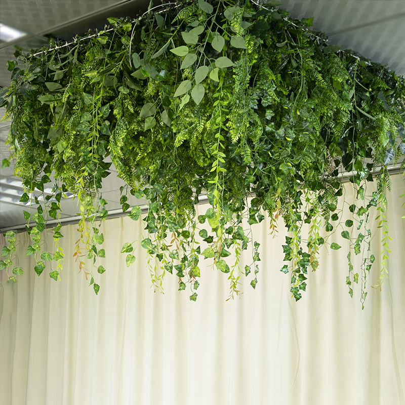 LFB1492 Christmas wedding decoration artificial plant greenery hanging for stage ceiling decoration