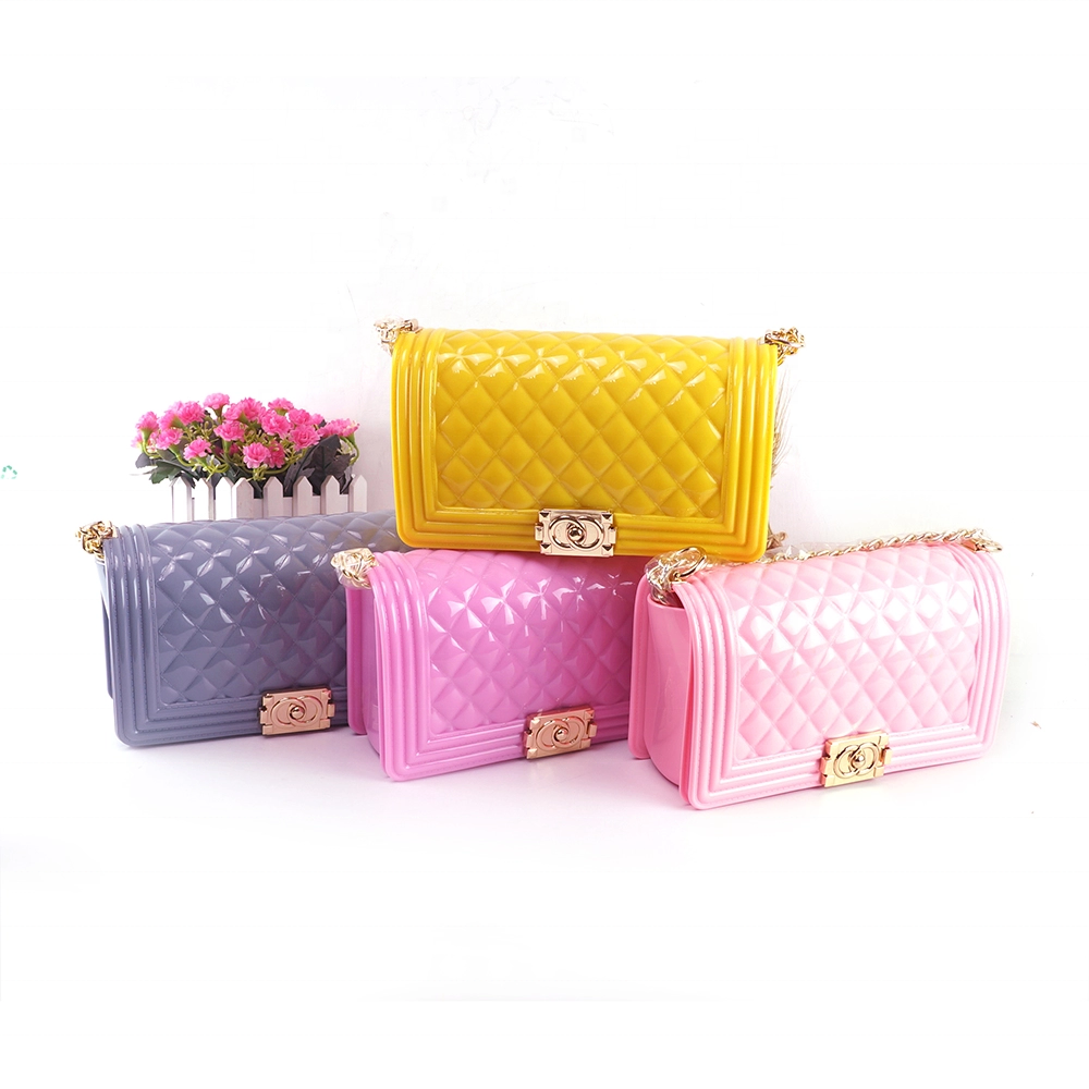 Hot sell designer handbags famous brands ladies rainbow jelly purse silicone crossbody bags women handbags