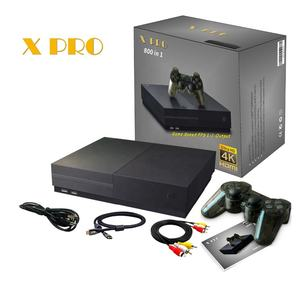 New X PRO 64 Bit 4K HD Video Game Consoles Two Free Controller 800 Games in 1