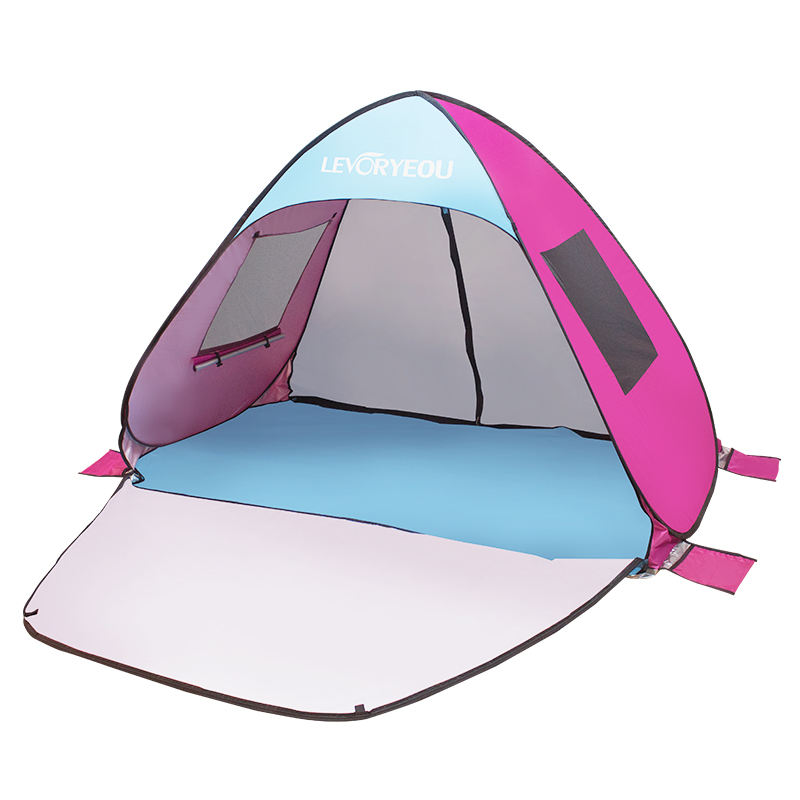 Quick opening full surround tent with door and window, convenient to open and store outdoor special beach tent