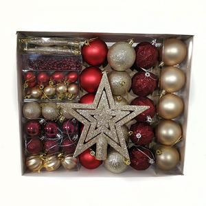6CM 50-Piece Ball Set Shatterproof Decorative Ornaments Plastic Christmas Ball For Tree Decoration