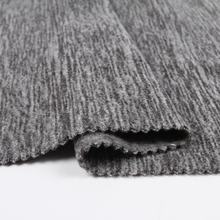 Chinese textile dark gray melange 100 polyester micro cation polar fleece fabric