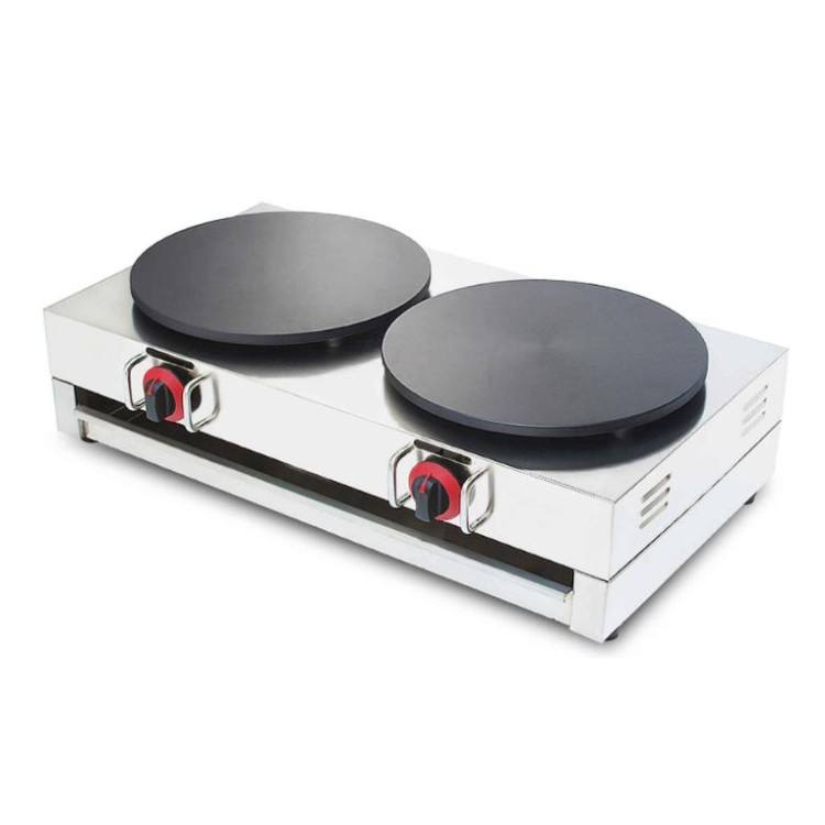 Profesional Industri Crepe MAKER/Pancake/Double Gas Crepe Maker