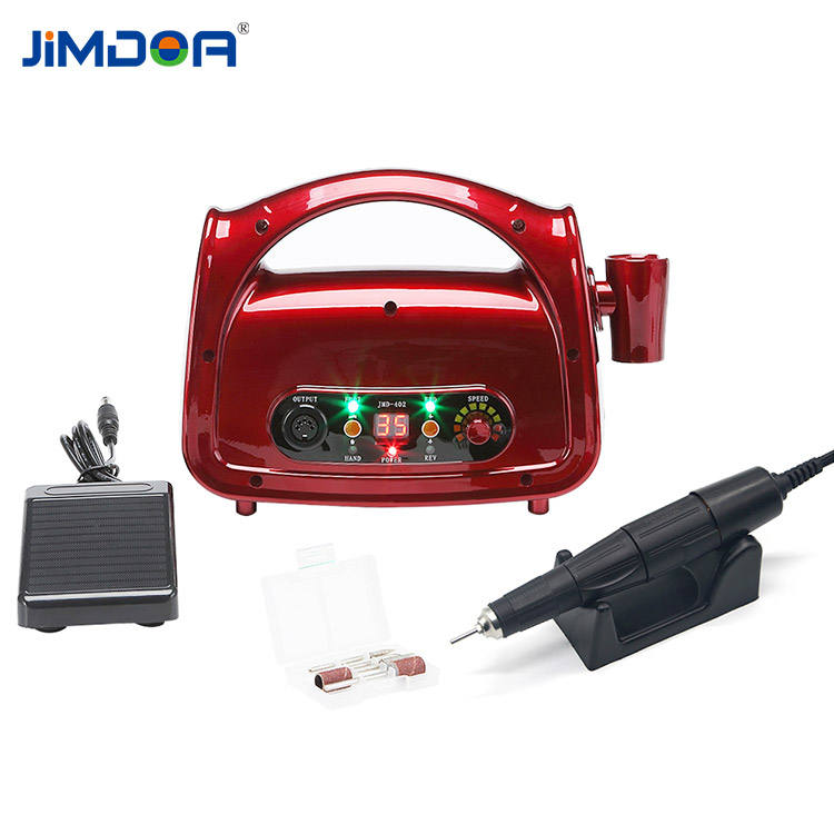 Professional Electric Nail Drill Machine JIMDOA LCD RPM Display 75W Acrylic Nails Drill Fine Quality Electric Nail Drill Professional Machine 35000RPM