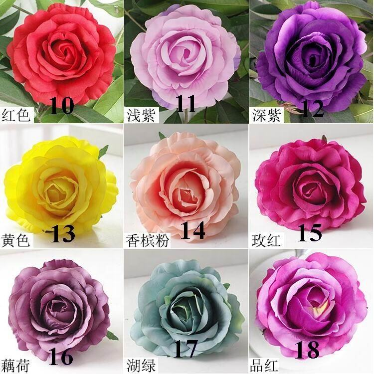 SPR 500PCS/LOT Packing artificial Wedding Occasion silk fabric rose DIY single flowers heads flower wall backdrop arrangement