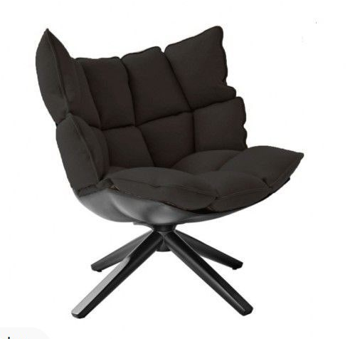 Unique design Luxury fabric upholstered solid wooden legs designer furniture indoor swivel fiberglass frame dining Husk chair