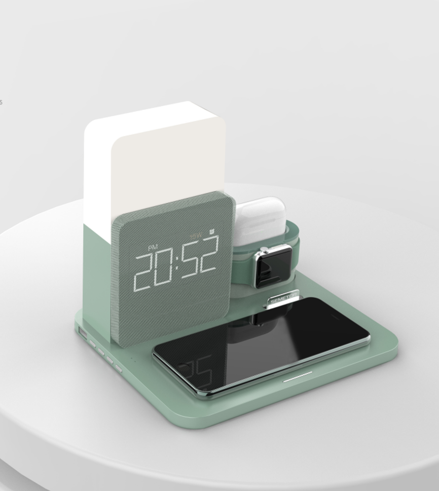 Innovative and practical wireless charger with time indicator