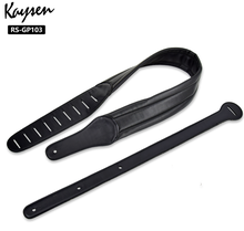 Stringed instrument accessories factory price high end customize leather guitar straps RS-GP103,Black