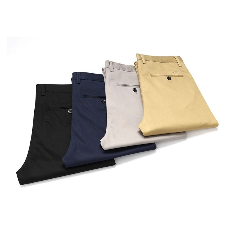 Custom Mens New Business Fashion slacks Elastic High Quality Workout Slim Fit Stretch Casual Chinos Pant