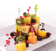 Musical Note Shape Fruit Fork Mini Cartoon Children Snack Cake Dessert Food Fruit Pick Toothpick Bento Lunches Party