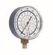 Common cool gas meter stainless steel with brass pressure gauge manometer
