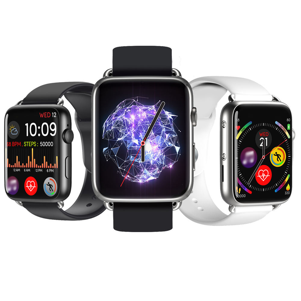 2019 Newest 4G Android Smart Watch DM20 With 2MP Camera Replaceable Silicon Straps Apps Play Store