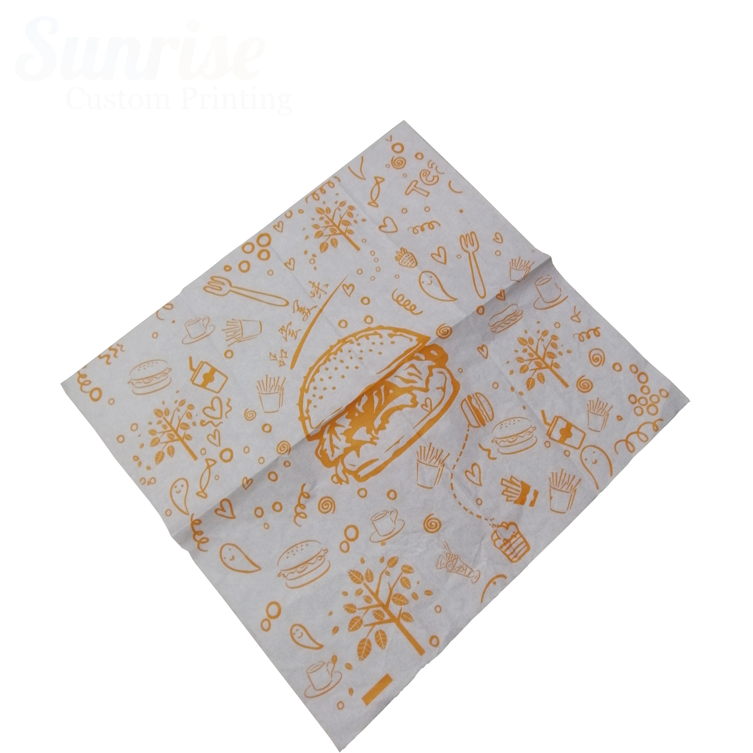 ECO wax paper wrap Color Printing Customized Printed beeswax food wrap