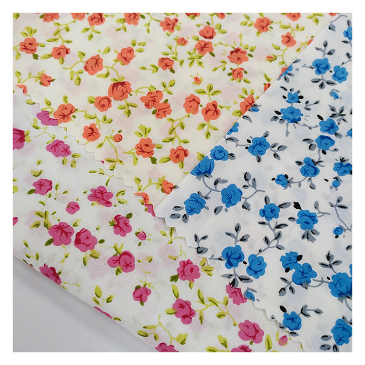 Factory Direct Custom Digital print 100 cotton fabric For Dress,mosquito net digital printing 98 cotton 2 spandex fabric