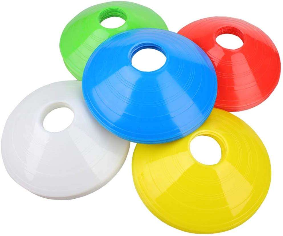 Pressure Resistant Cones Marker Discs Marker Bucket PVC Sports Accessories Soccer Training Sign Dish