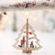 Wood [ Christmas Gifts ] Wooden Bells Hanging Pendants DIY Natural Snowflakes Deer Shape Christmas Wooden Bells Hanging Pendants Xmas Ornaments Kids Gifts Decorations