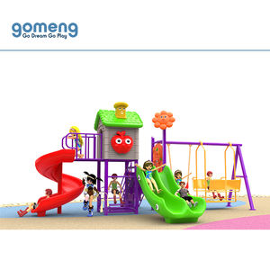 Hot-selling cheap children playhouse plastic outdoor slide playground with swing for sale