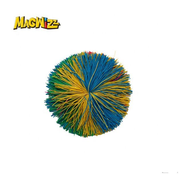 6.5/7/8/9/10cm multicolor stringy koosh balls sports disk bounce ball