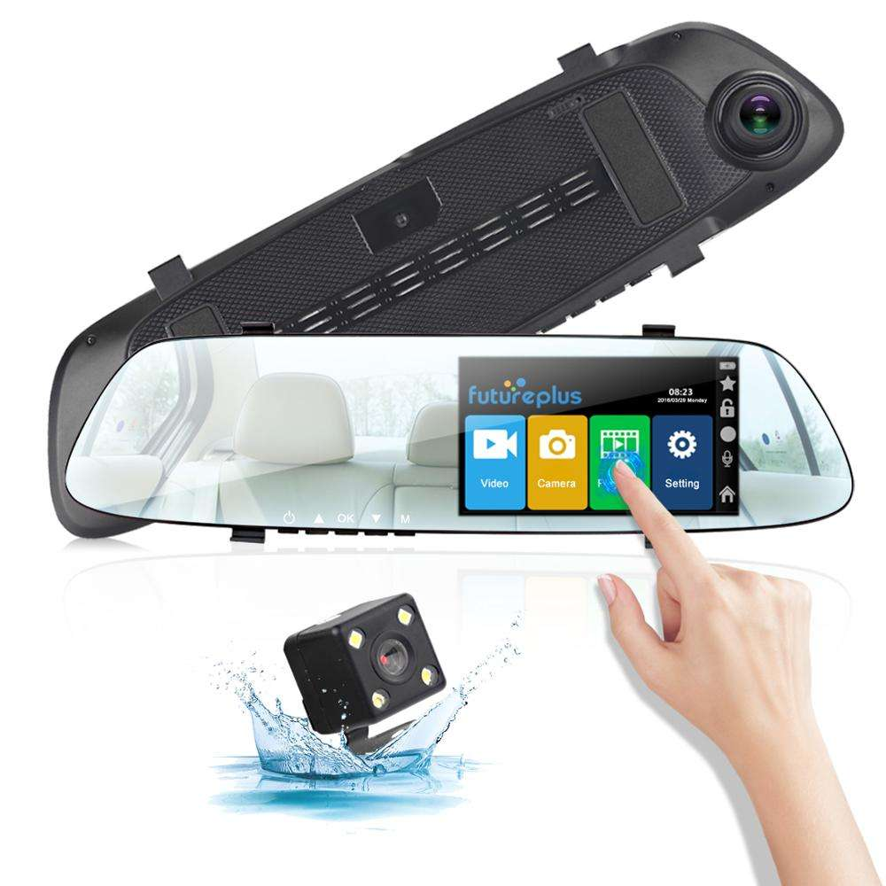 5 Inch 1080P Dual Lens Dash Cam Front and Rear View Mirror Car Camera DVR Car Black Box