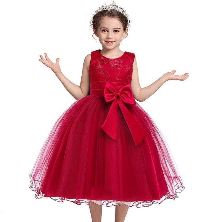 ABC niños niñas princesa ropa de los niños Bebé Vestidos de Fiesta de algodón vestido de niña