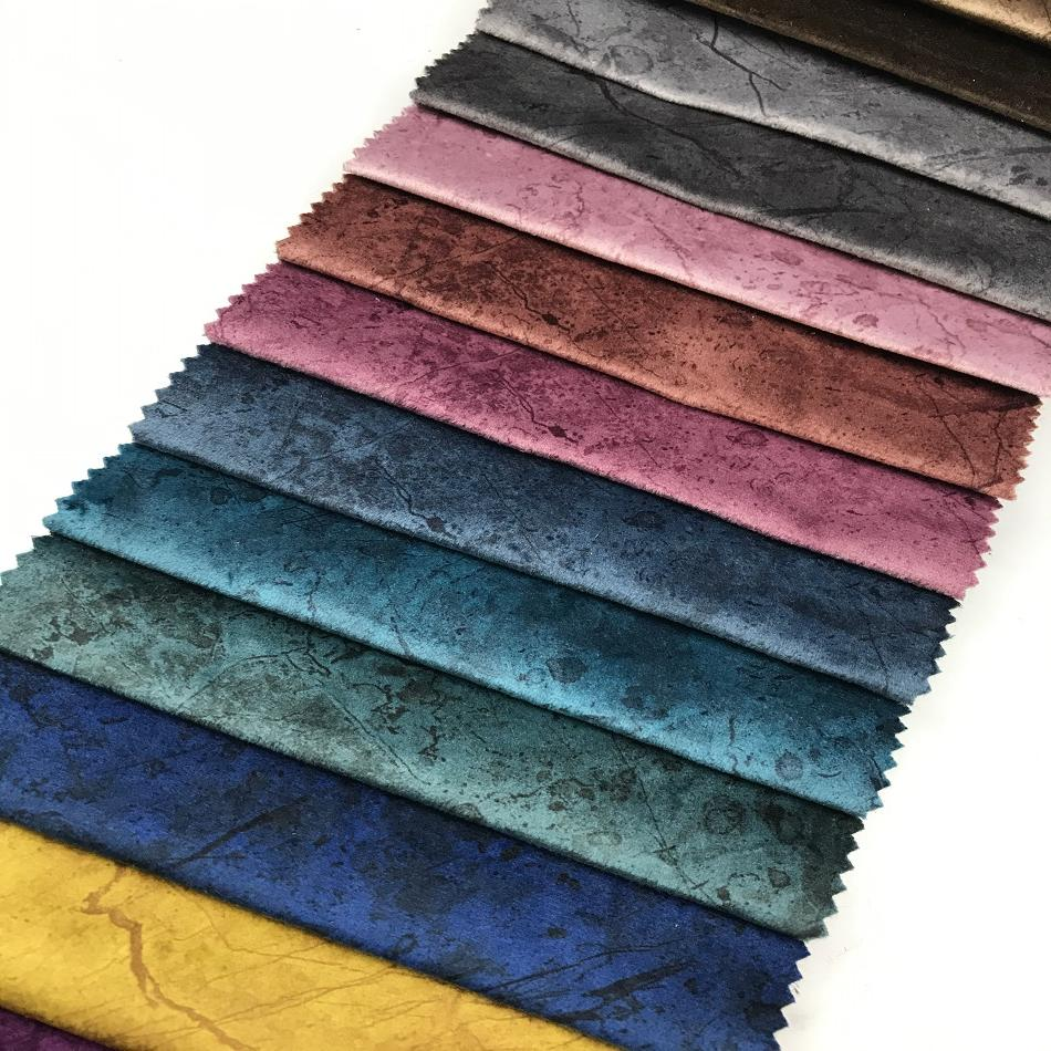upholstery velvet supplier for sofa fabric and curtain with fleece backing