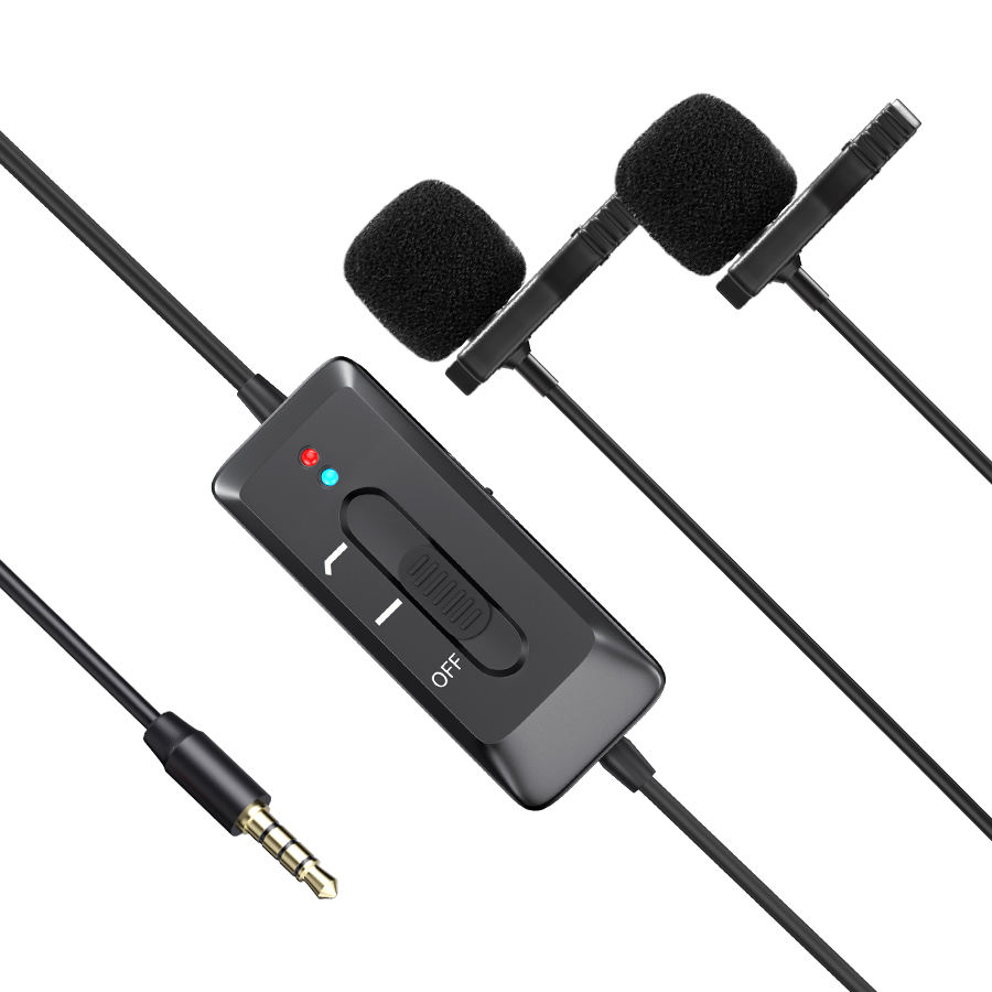 Personalized Black Smallest Hidden Camera Lavalier Condenser Microphone recording Reporter Mic Interviews