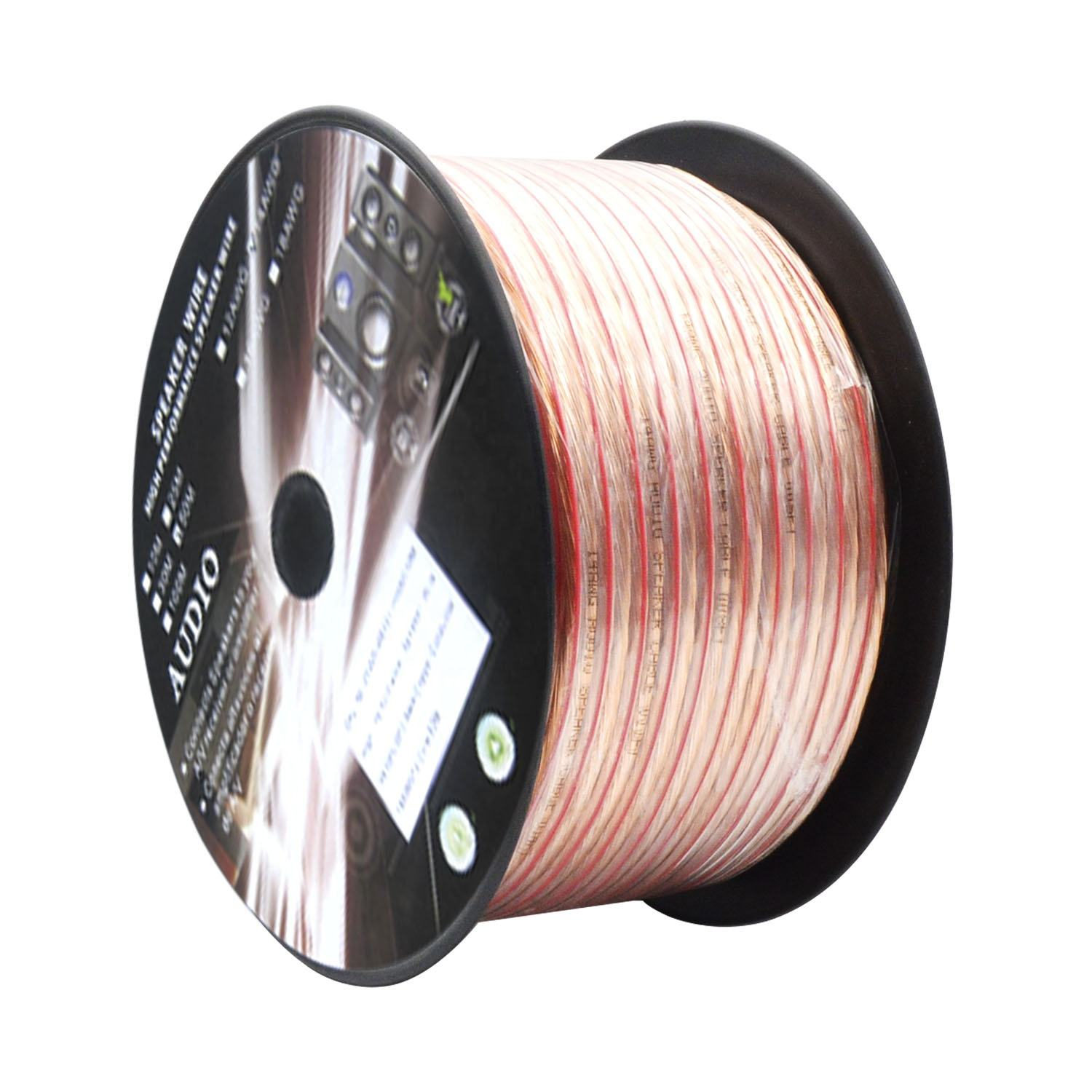 16 AWG 100FT Speaker Wire Cable for In-wall Installation