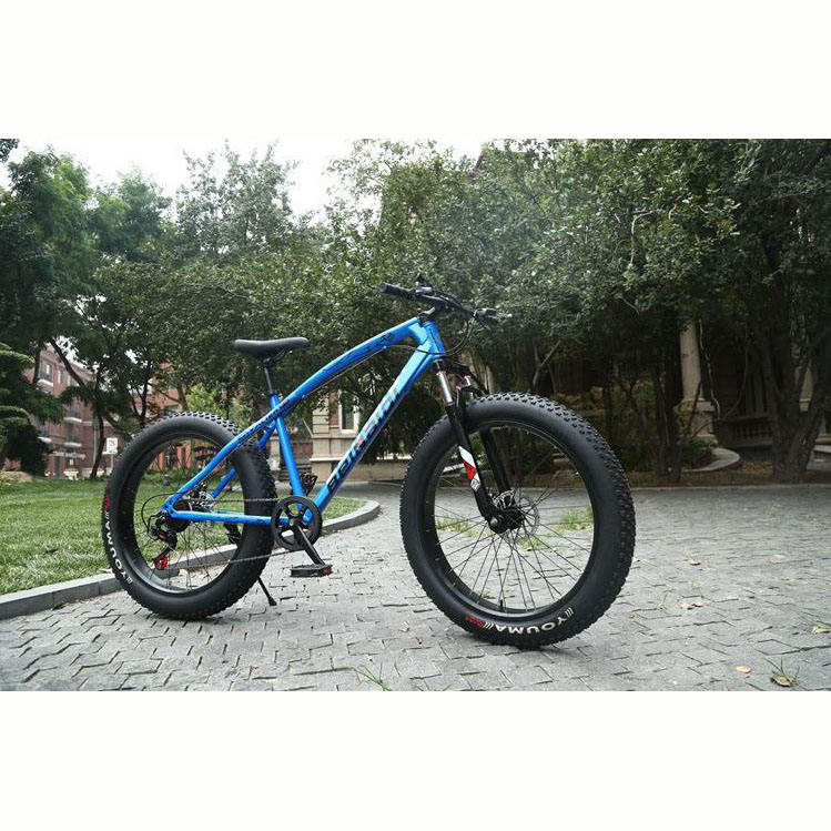 Factory price 26inch 24 speed steel frame adult man big wheel full suspension MTB snow bike beach fat bike mountain bicycle