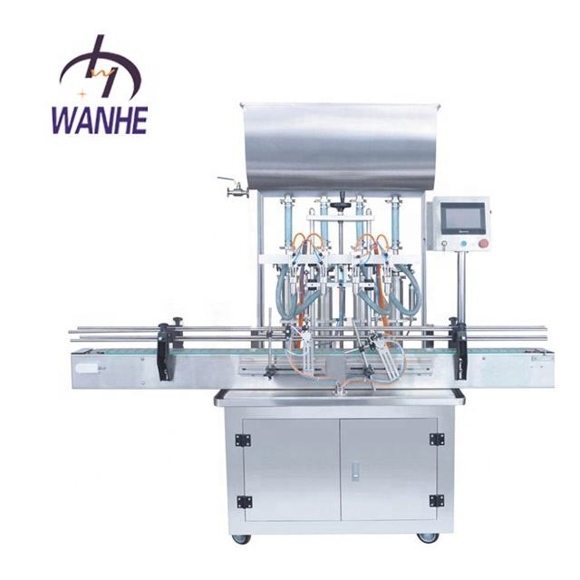 WANHE 50-500ML MOTOR Sauce glass piston honey garlic paste Equipment Bottle servo Filling Machines