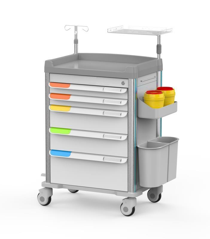 MT medical CQ-12 hospital furniture portable surgical medical instrument trolley emergency price