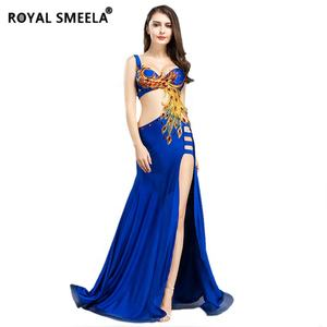 Women Belly Dance Costume Set Phoenix Totem Bra Top Skirt Dress Carnival Hollywood Club Stage Clothes Long Dress