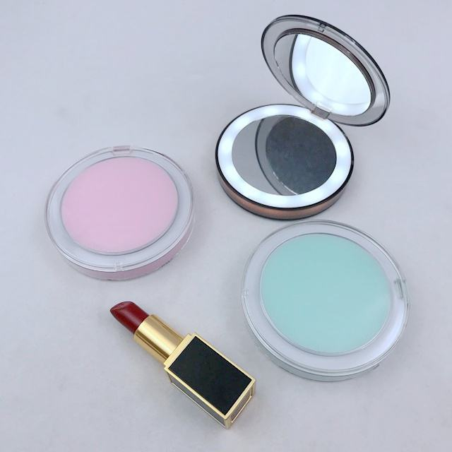 Small Portable Pocket Led Cosmetic Mirror with Light for Makeup