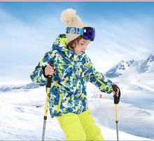 Little Girl's Boys's Outdoor Mountain Waterproof Windproof Snowboarding Jackets and Pants Set Insulated Snowboard Snowsuit